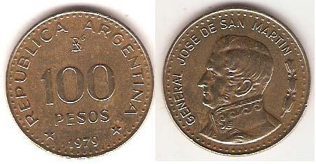 Каталог монет - Аргентина 100 песо