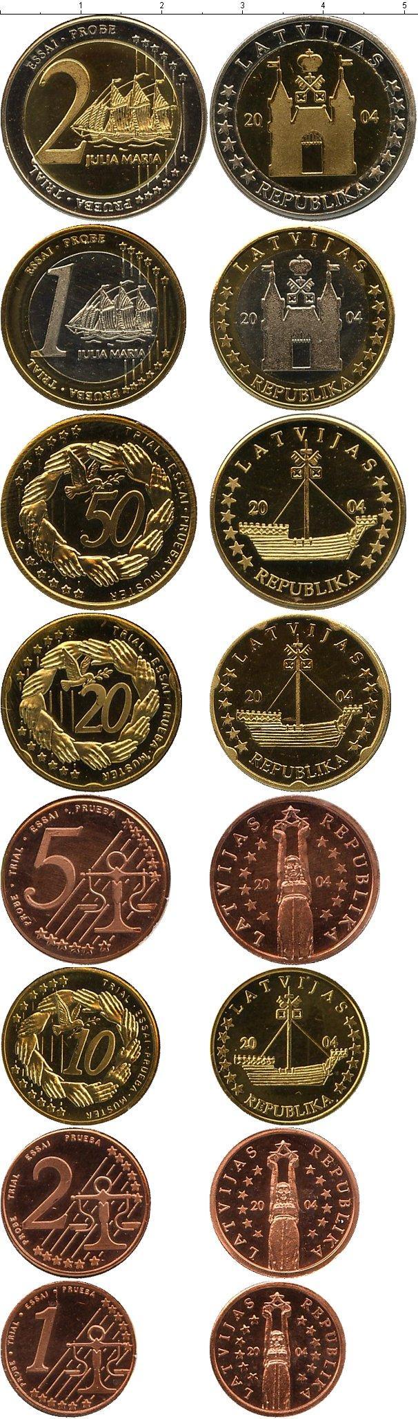 Каталог монет - Латвия Евронабор 2004 года