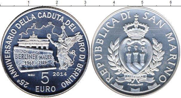 Каталог монет - Сан-Марино 25-летие Берлинской стены