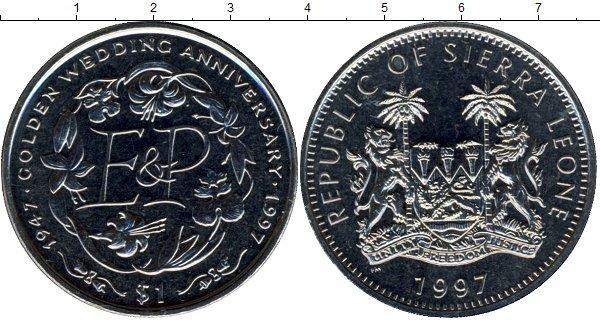 Каталог монет - Сьерра-Леоне Золотой юбилей бракосочетания Елизаветы и Филиппа