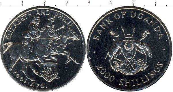 Каталог монет - Уганда Золотой юбилей бракосочетания Елизаветы и Филиппа