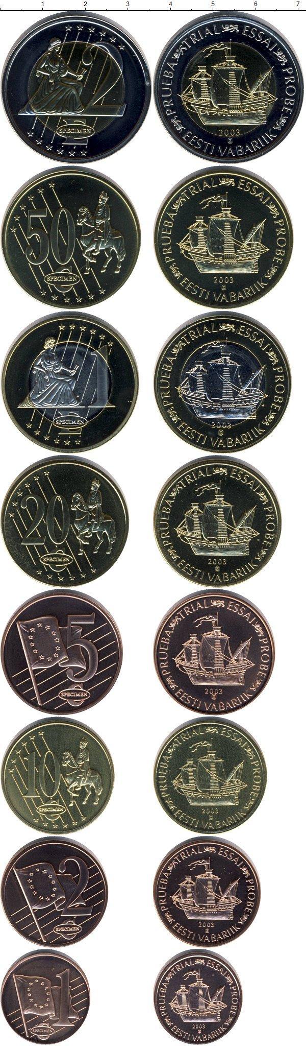 Каталог монет - Эстония Евро-модель