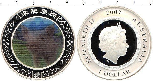 Каталог монет - Австралия Год свиньи