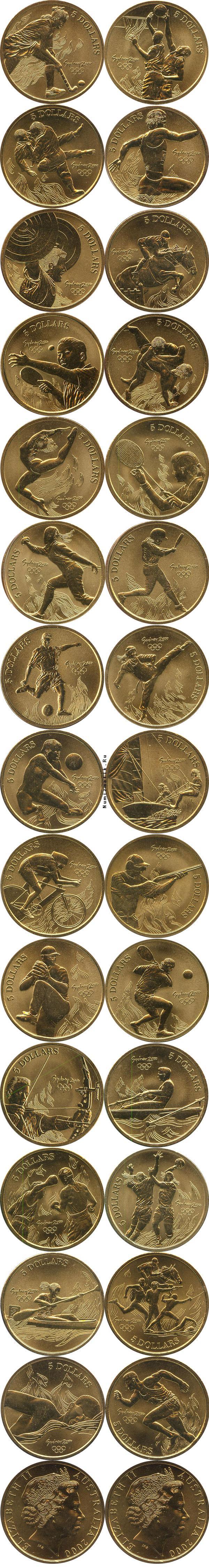 Каталог монет - Австралия Олимпийские игры