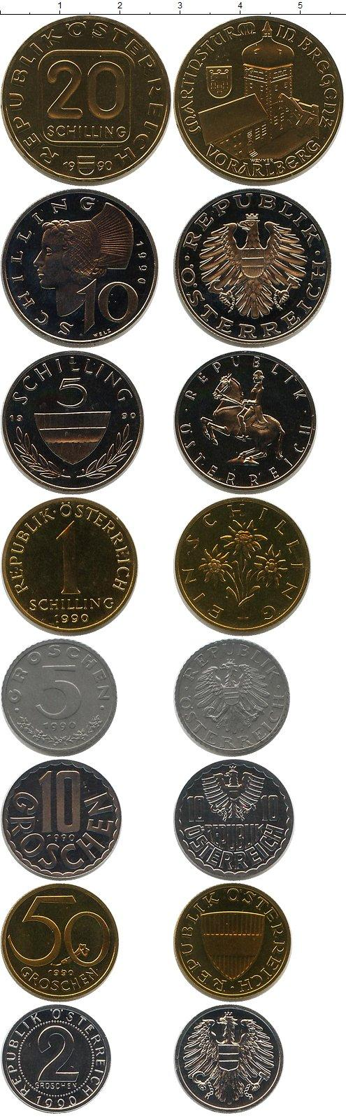Каталог монет - Австрия Выпуск 1990