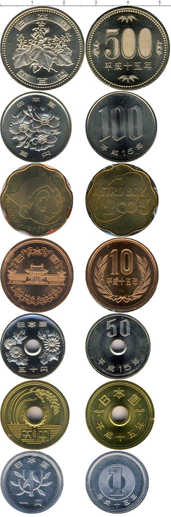 Каталог монет - Япония Выпуск монет 2003