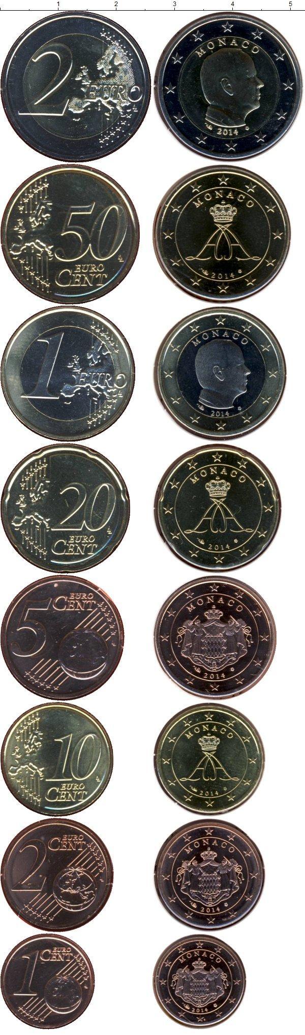 Каталог монет - Монако Евронабор 2014