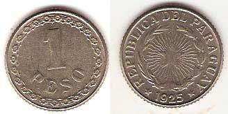Каталог монет - Парагвай 1 песо