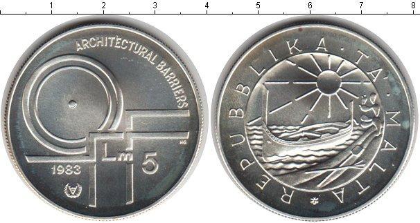 Каталог монет - Мальта 5 лир