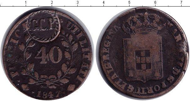 Каталог монет - Португалия 40 рейс