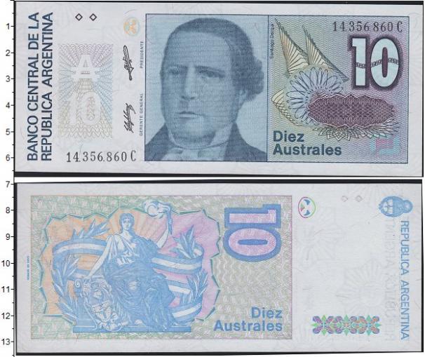 Каталог монет - Аргентина 10 аустралес