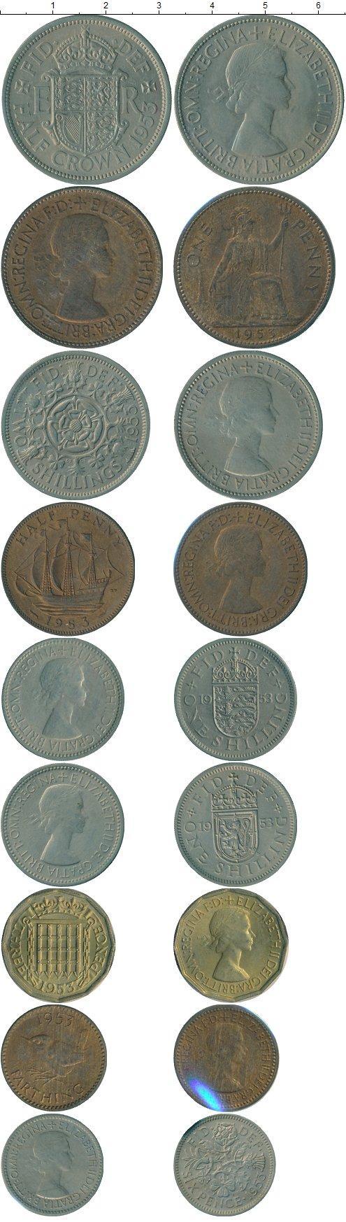 Каталог монет - Великобритания Великобритания 1953
