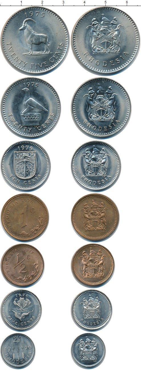 Каталог монет - Родезия Родезия 1970-1976
