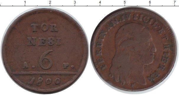 Каталог монет - Неаполь 6 торнеси