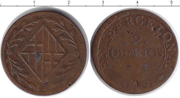 Каталог монет - Испания 2 кварто