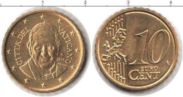 Каталог монет - Ватикан 10 евроцентов