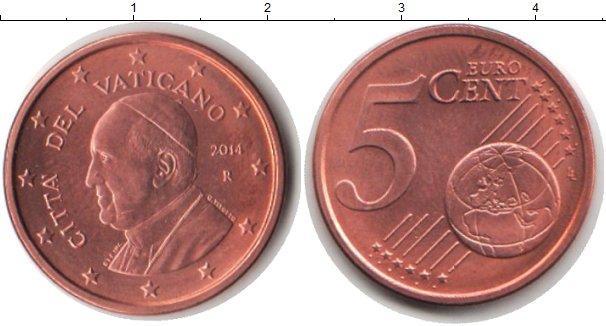 Каталог монет - Ватикан 5 евроцентов