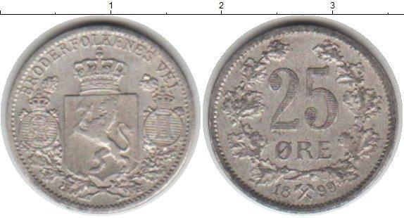 Каталог монет - Норвегия 25 эре