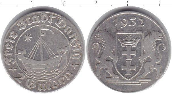 Каталог монет - Данциг 2 гульдена