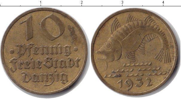Каталог монет - Данциг 10 пфеннигов