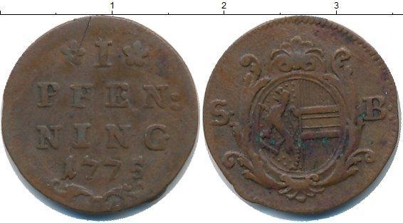 Каталог монет - Зальцбург 1 пфенниг