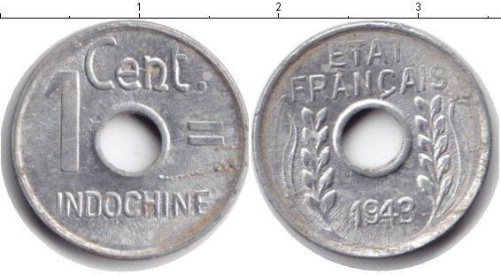 Каталог монет - Индокитай 1 сентим