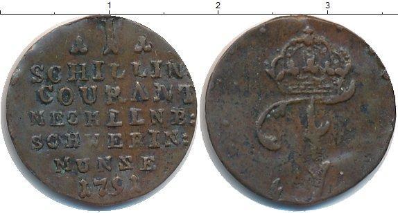 Каталог монет - Мекленбург-Шверин 1 шиллинг