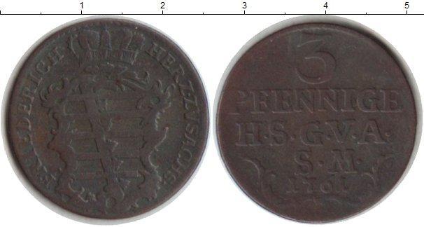 Каталог монет - Саксе-Альтенбург 3 пфеннига