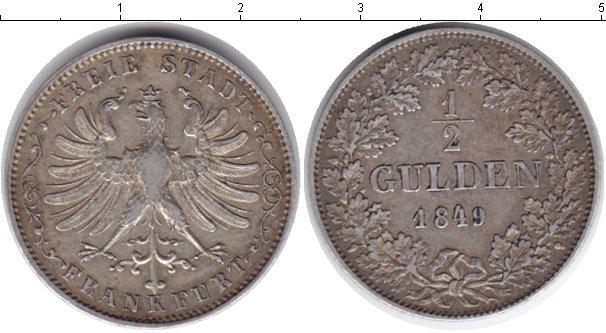 Каталог монет - Франкфурт 1/2 гульдена