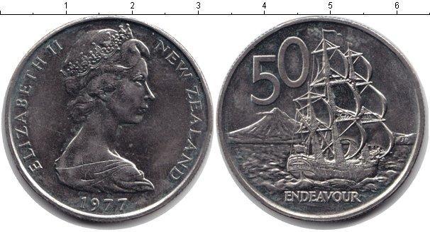 Каталог монет - Новая Зеландия 50 центов