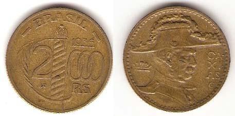 Каталог монет - Бразилия 2000 рейс