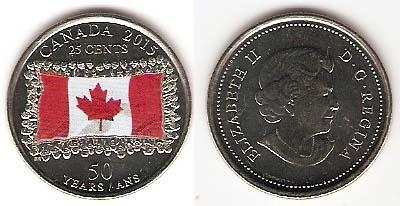 Каталог монет - Канада 25 центов