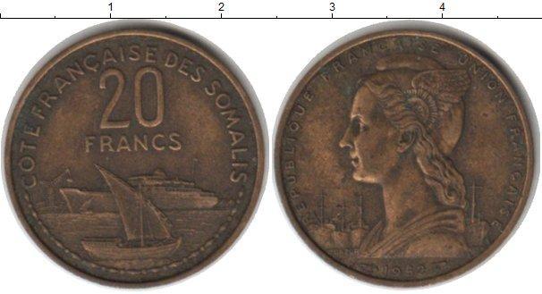 Каталог монет - Сомали 20 франков