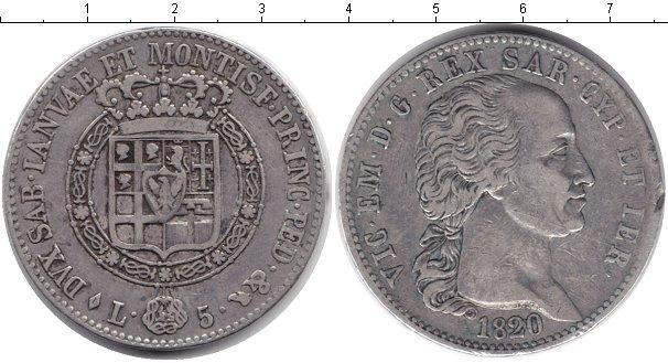 Каталог монет - Сардиния 5 лир