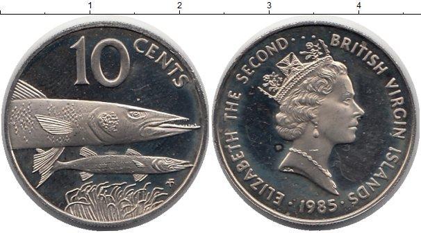 Каталог монет - Виргинские острова 10 центов