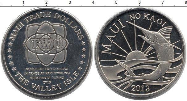 Каталог монет - Гавайские острова 2 доллара