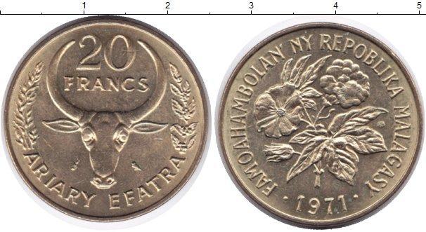 Каталог монет - Мадагаскар 20 франков