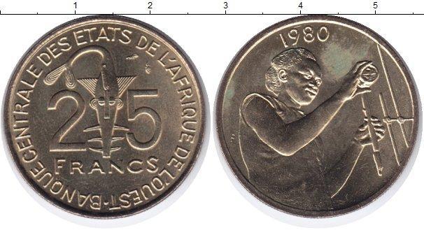Каталог монет - Французская Африка 25 франков