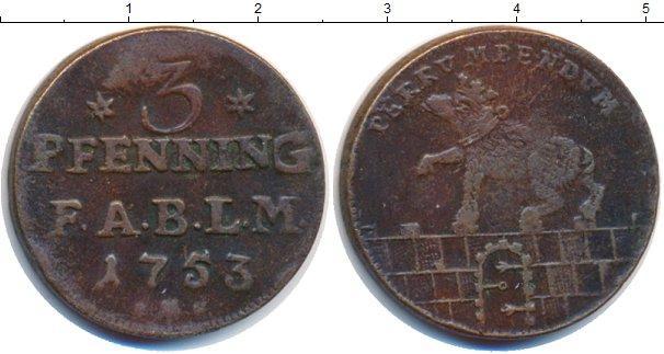 Каталог монет - Анхальт-Бембург 3 пфеннига
