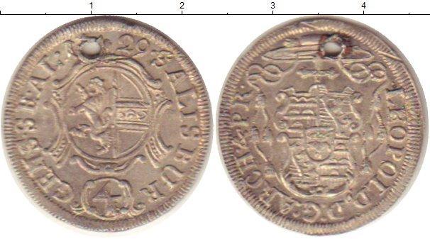 Каталог монет - Зальцбург 4 крейцера