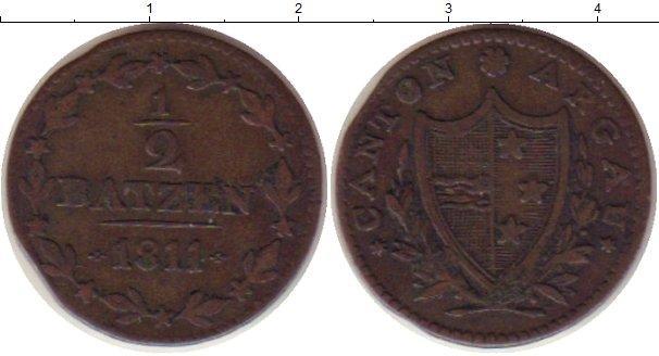 Каталог монет - Аргау 1/2 батзена