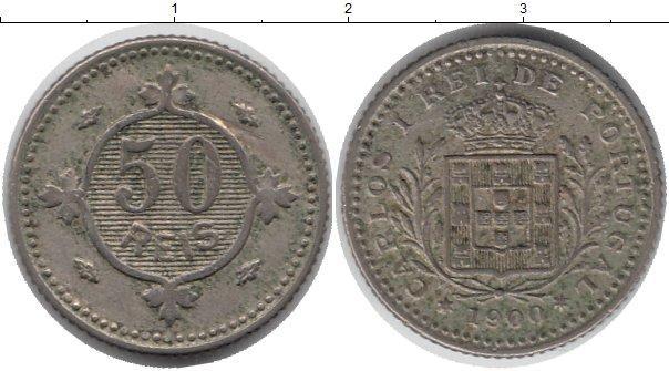 Каталог монет - Португалия 50 рейс