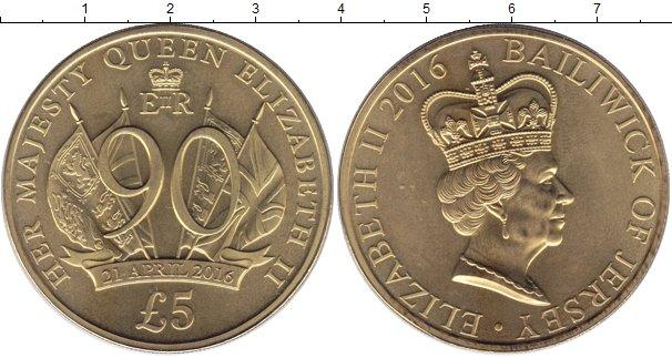 Каталог монет - Остров Джерси 5 фунтов