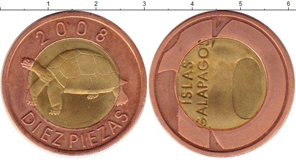 Каталог монет - Галапагосские острова 10 песет