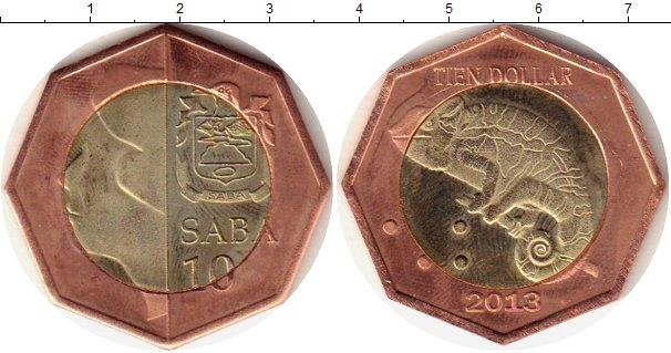 Каталог монет - Саба 10 долларов
