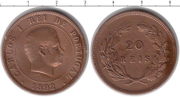Каталог монет - Португалия 20 рейс