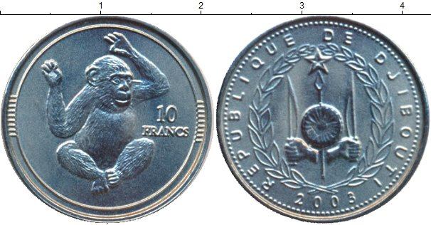 Каталог монет - Джибути 10 франков