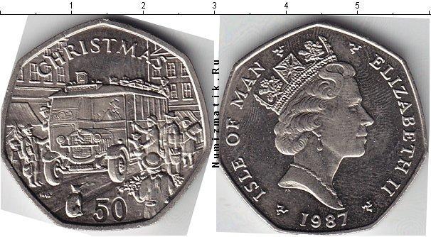 Каталог монет - Остров Мэн 50 пенсов