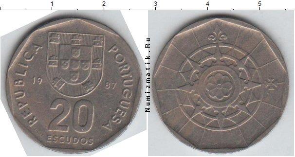 Каталог монет - Португалия 20 эскудо