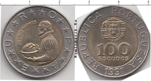 Каталог монет - Португалия 100 эскудо